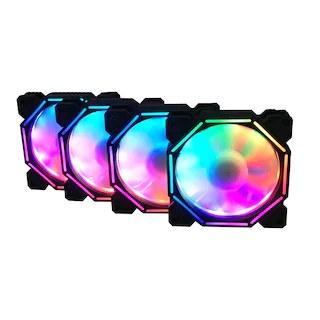 RGB FAN KİTİ 4x12Cm - 1xHub
