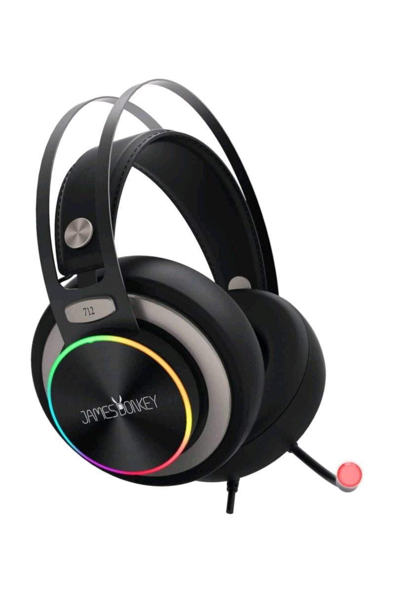 James Donkey712 Siyah 7.1 Surround Rgb Gaming Kulaklık Neodimyum 50mm Sürücülü
