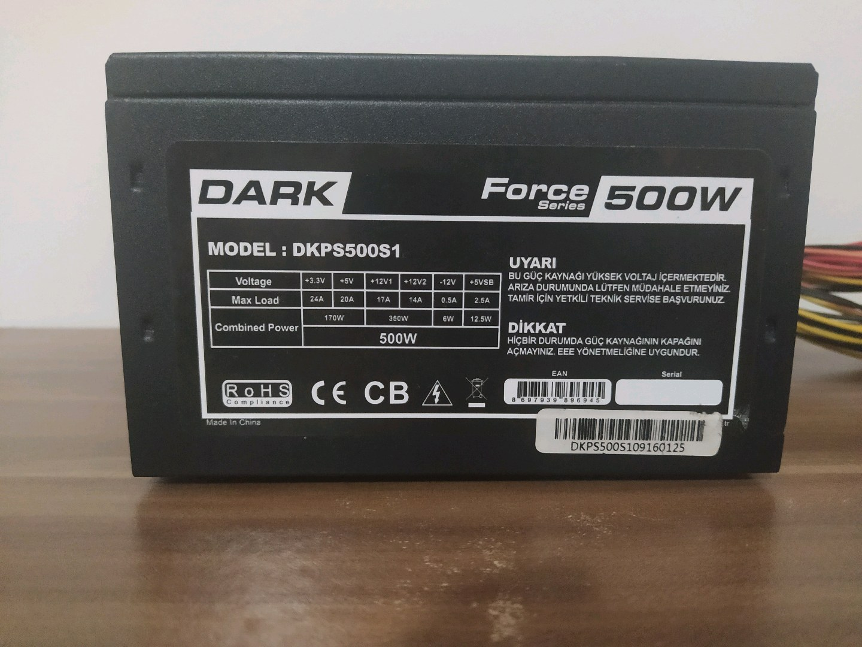 dark 500w güç kaynağı