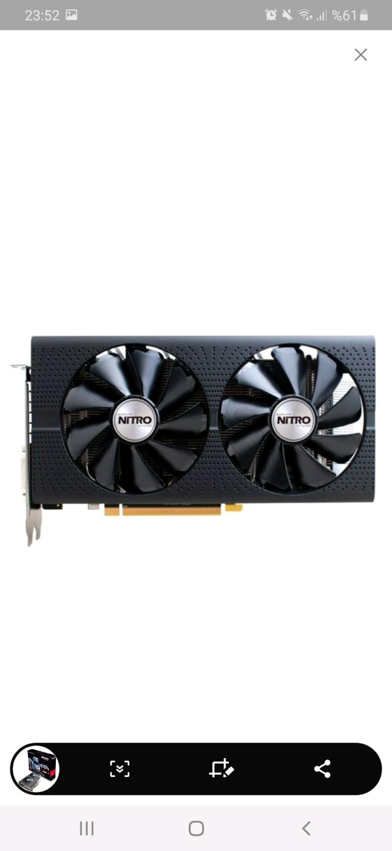 SAPPHIRE AMD RADEON RX 480 NITRO OC 4GB 256 BIT GDDR5 EKRAN KARTI