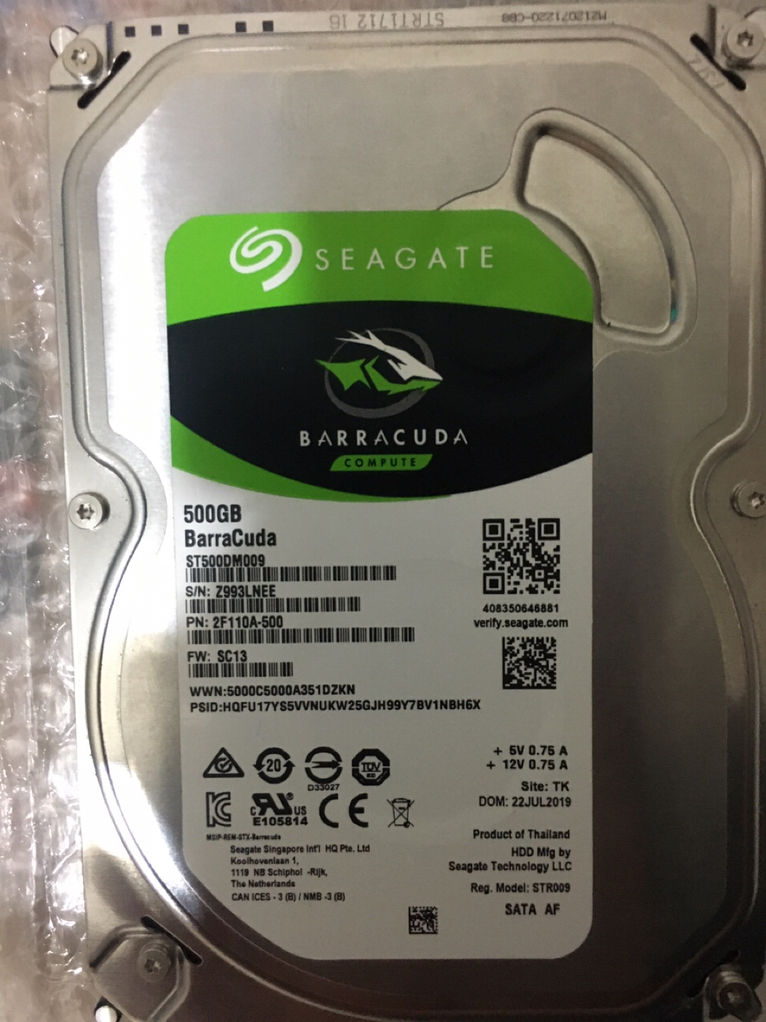 Seagate Barracuda 500 gb hdd