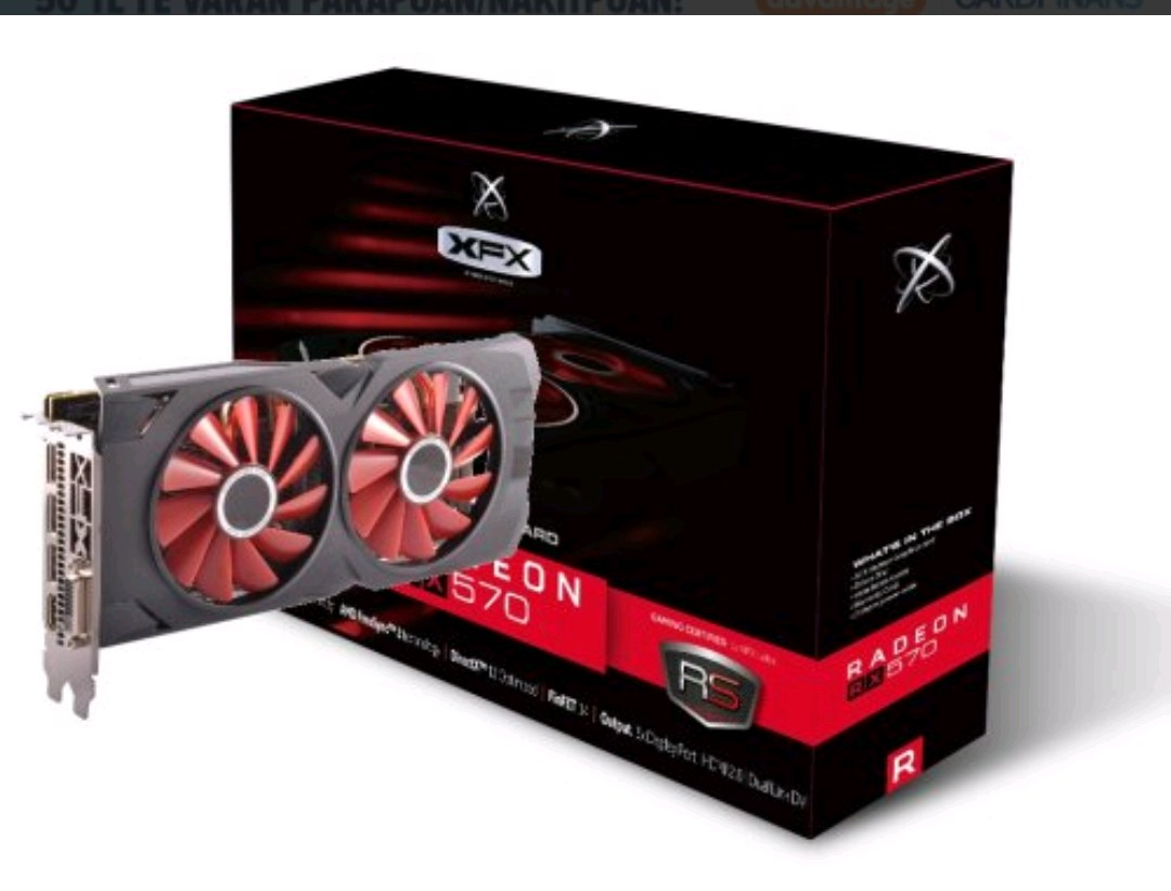 XFX AMD RADEON RX 570 4GB 256 BİT EKRAN KARTI 18 Ay garantili TERTEMİZ