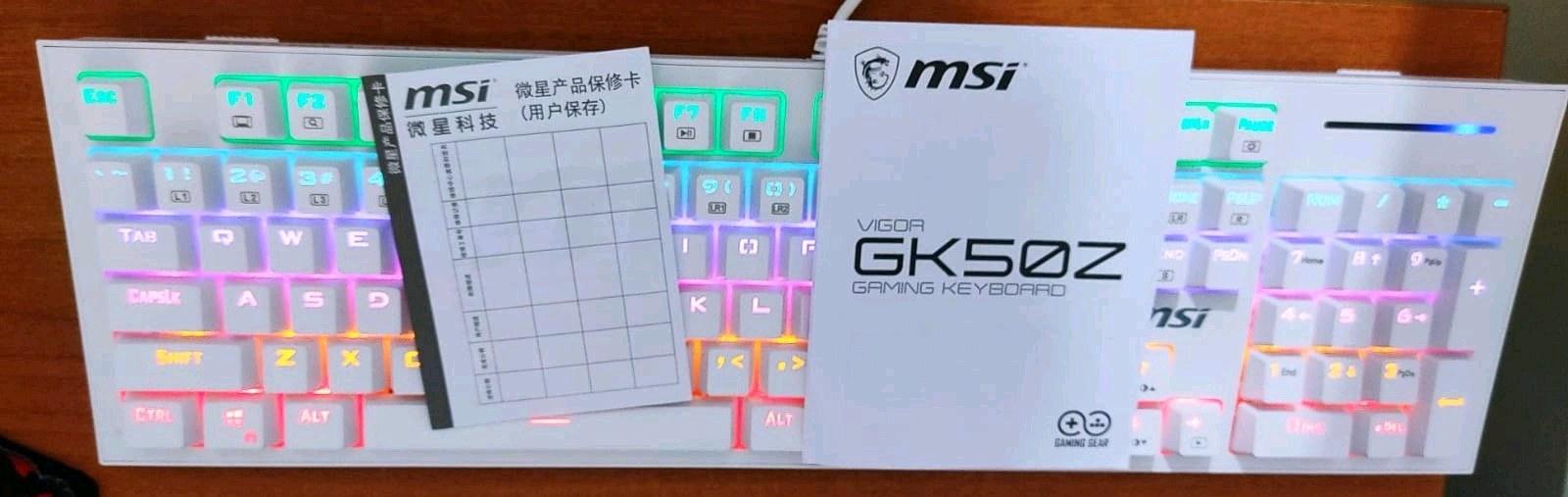 Msi Vigor GK50Z Mekanik Oyuncu Klavyesi