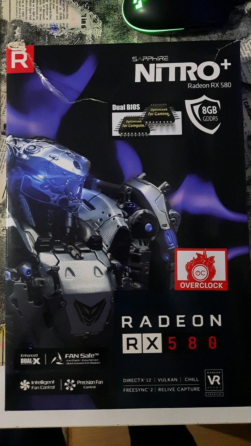 8 GB RX580 Sapphire Nitro+