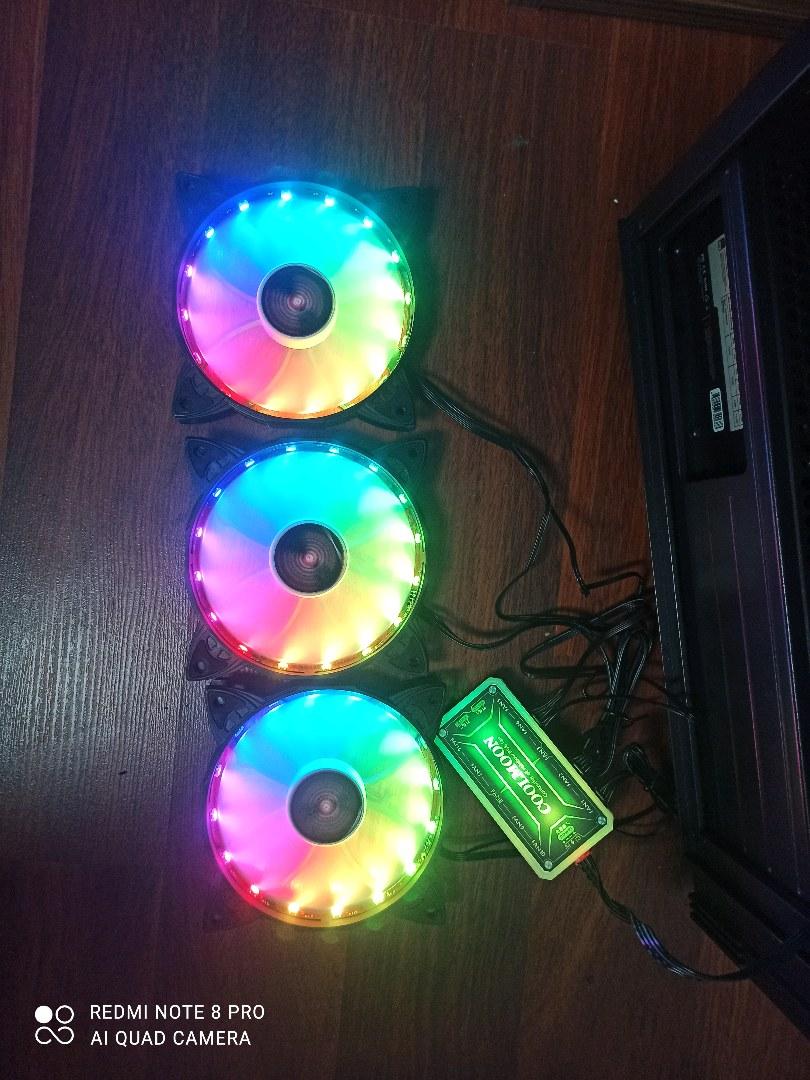 3 adet RGB fan