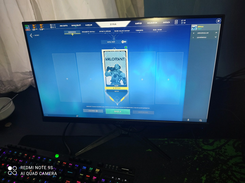 Acer Nitro Monitör 75HZ   1MS