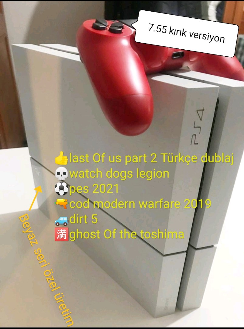 PS4 kırık versiyon bol oyunlu konsol