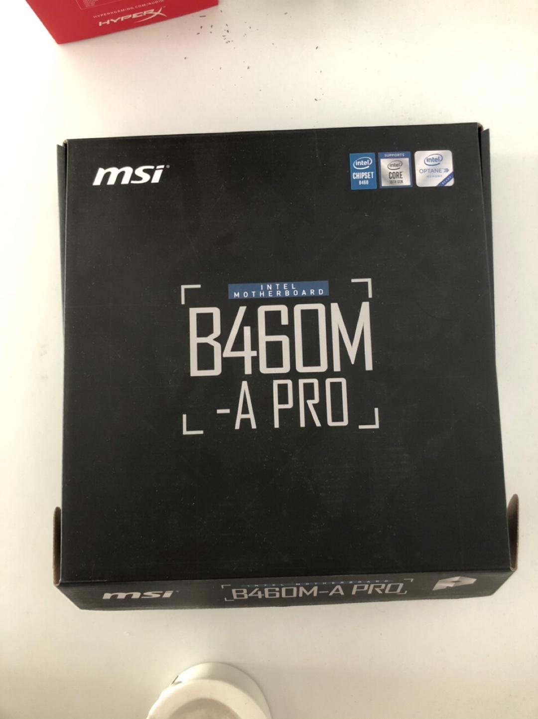 i7-10700F/MSI B460M-A Pro/Sandisk 500GB M2 SSD/GSKILL 8GB 3000mhz RAM
