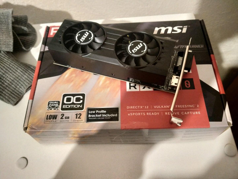 MSI RX 550 2 GB 128 bit