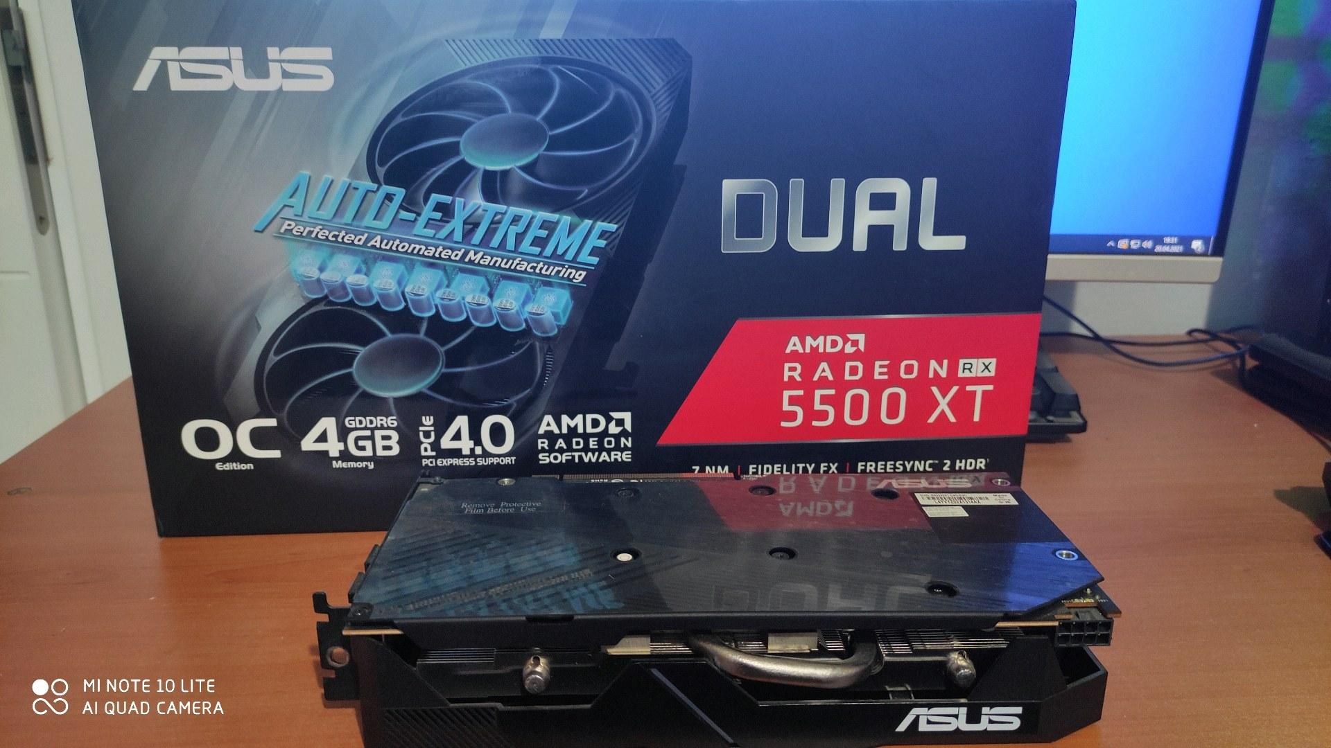 RX5500XT VE HEDİYE RX550 2GB