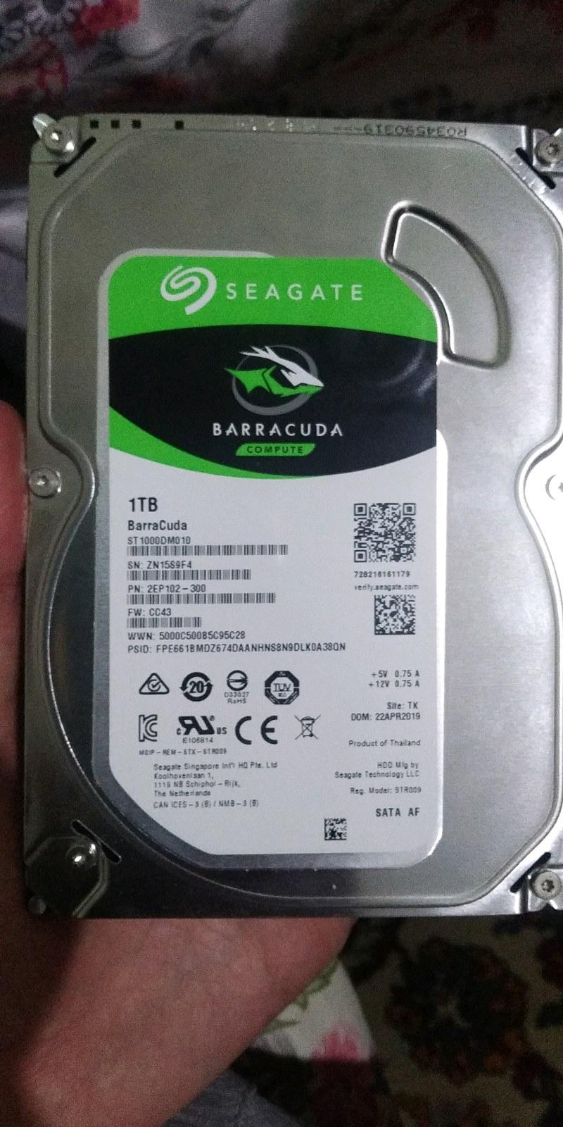 Seagate 1 tb 7200rpm harddisk temiz