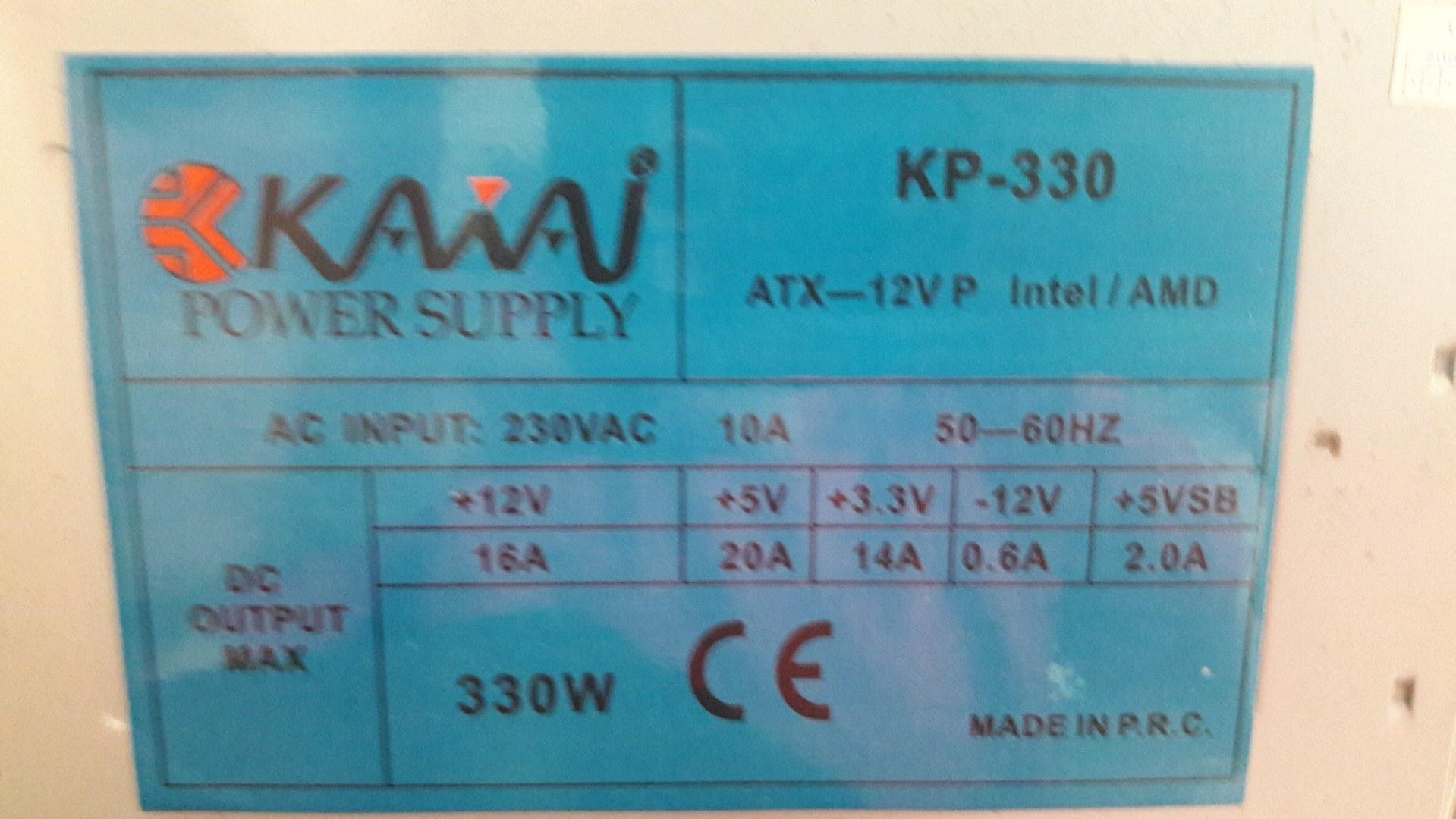 330w power supply
