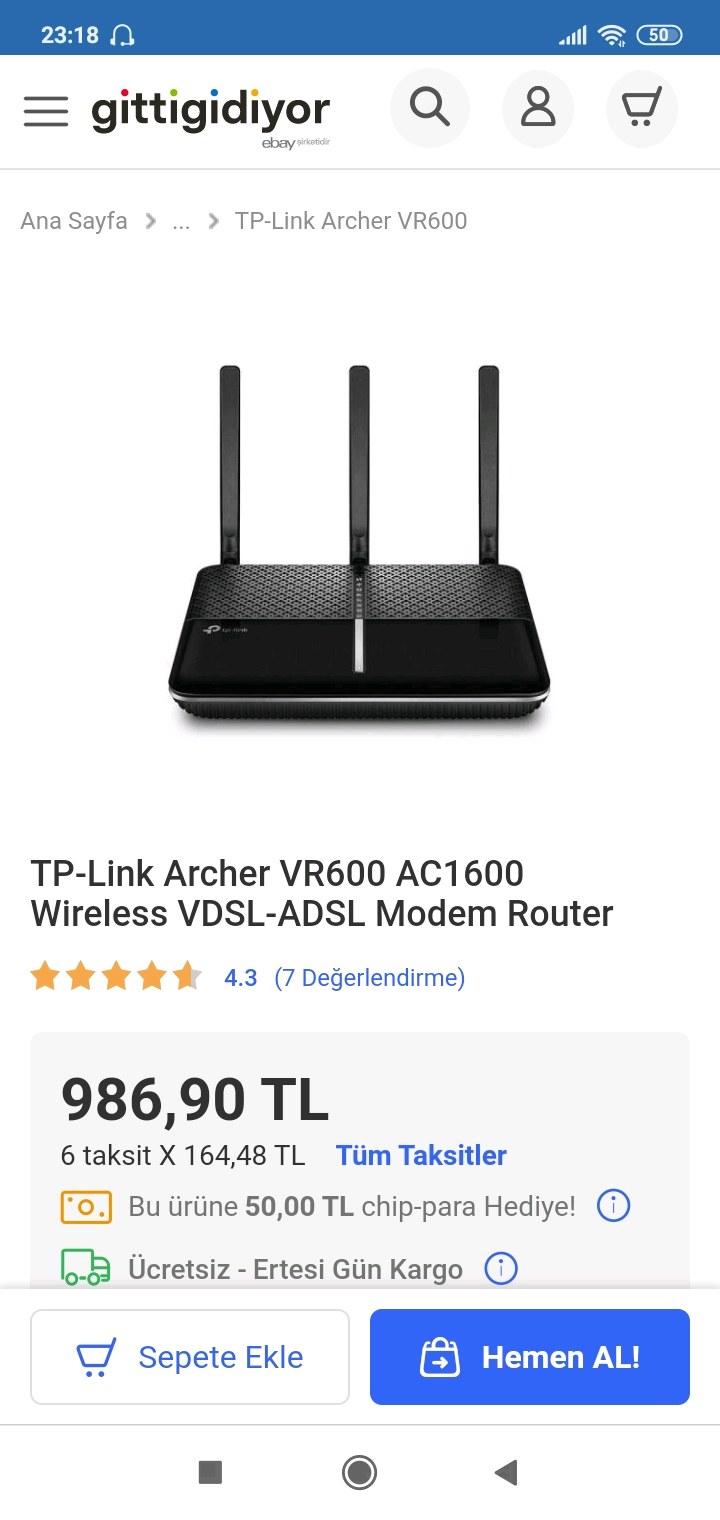 TP link ADSL VDSL MODEM