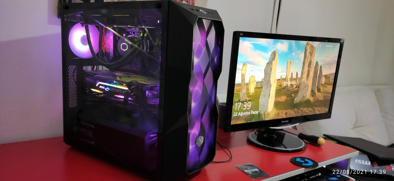 COOLER MASTER MASTERBOX TD500 MidT ATX RGB LED FANLI PENCERELİ SİYAH KASA