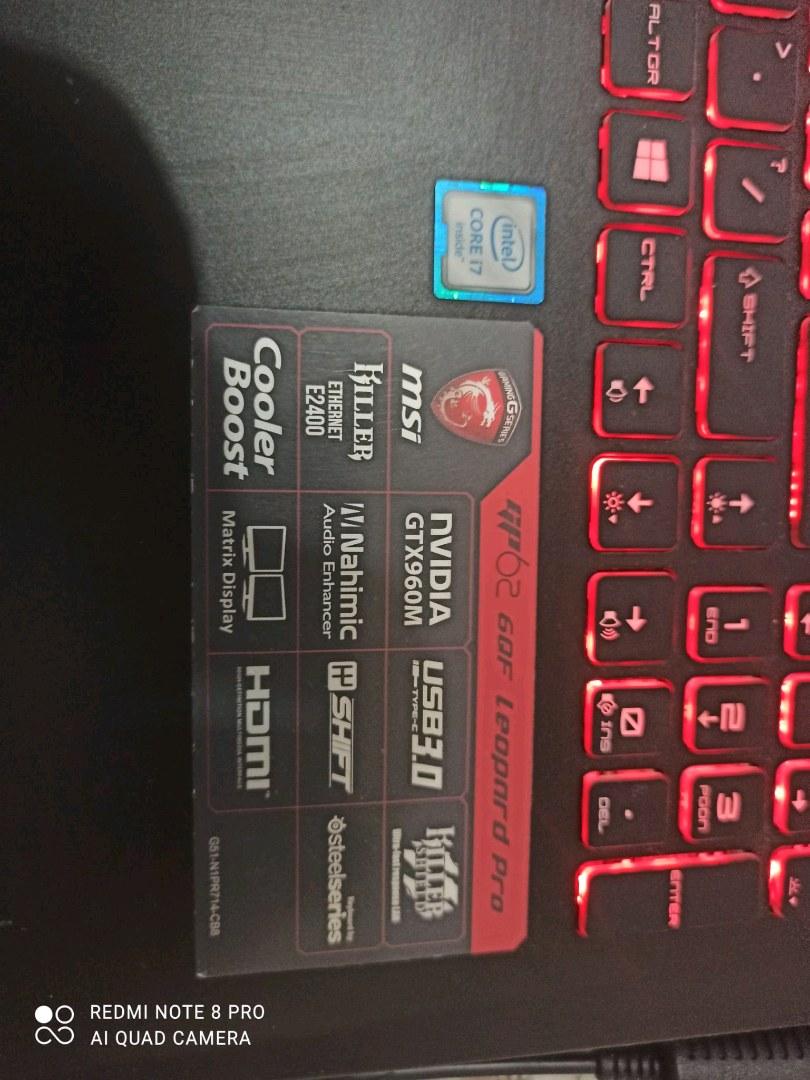 Msi leopard gaming laptop