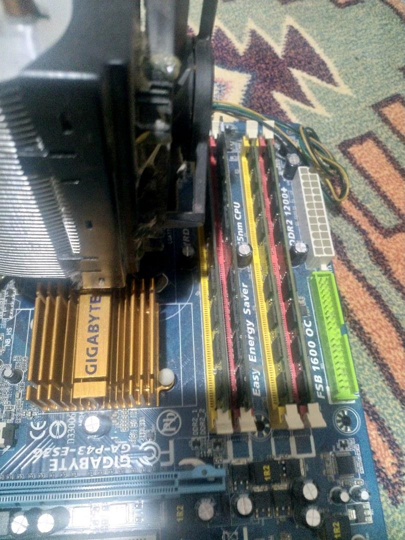 LGA 775 PİN ANAKART+İŞLEMCİ+RAM