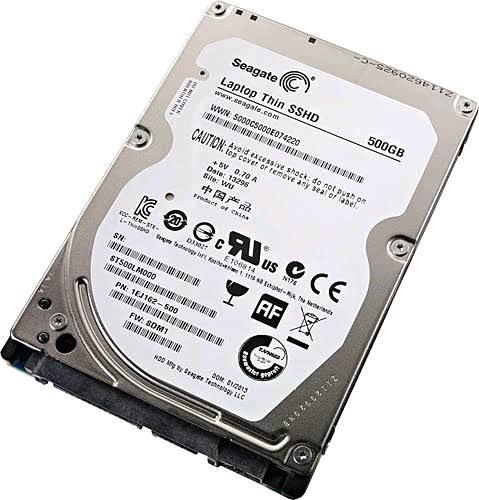 500 GB sshd harddisk 2.5 inc