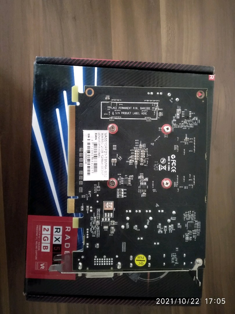 Biostar rx 550 2 gb 128 bit ekran karti